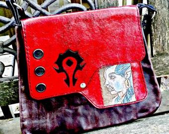 World of Warcraft - Women's handbag - Girlfriend gift - Gamer Gift - Blood Elf - Horde Logo - Geek Girl - Geek Bag - mom gift
