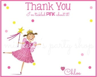 SET of 12, Pinkalicious Thank You Notes with Envelopes