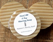 Oatmeal Goat Milk and Honey Round Shaving Shave Puck Soap
