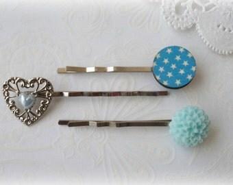 Blue Hairpin Set