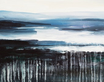 "Original abstract landscape 16X20 ""Nordic Visions"" by Jurate Phillips"
