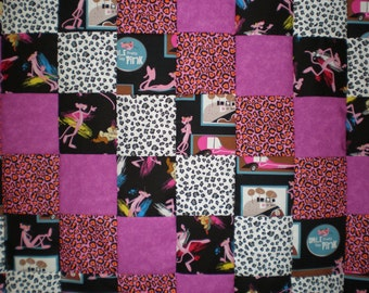 Pink Panther Patchwork  Quilt