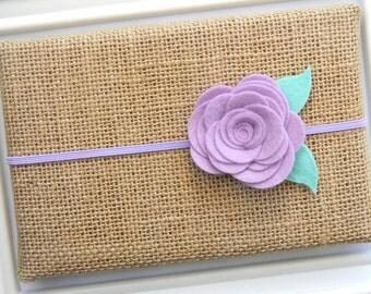 Lavender Felt Flower Headband - Felt Flower Headband - Flower Headband - Lavender Baby Headband