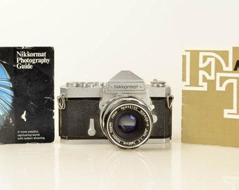 Nikon Nikkormat FT 35mm SLR Manual Film Camera with 50mm Lens and Instruction Manuals