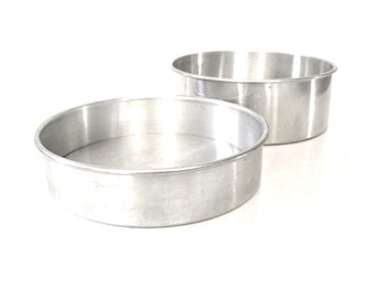 Removable Bottom Cheese Cake Pan(s) Round Mirro Aluminum 9 x 3 Walker Ware 9 x 2