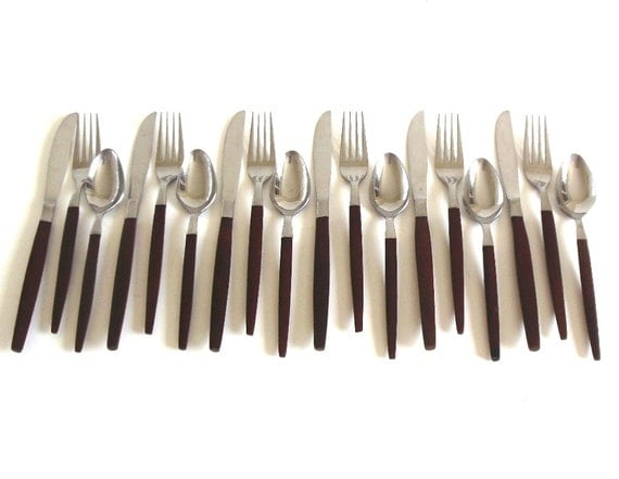 Danish modern stainless flatware service for 6 by lauraslastditch - Contemporary stainless flatware ...
