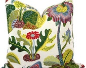 Exotic Butterfly in Multi Colors Decorative Pillow Cover 18x18, 20x20, 22x22, Eurosham or Lumbar Pillow, Floral Josef Frank pillow cover