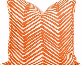 Festive Orange Zig Zag Quadrille Pillow Cover Square, Eurosham or Lumbar pillow Accent Pillow, Throw Pillow, Toss Pillow