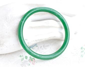 Green Bangle - Faux Jade bracelet
