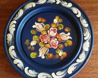 Schmied Gaiser Holzschnitzereien hand painted Rosemal plate Wall Decor Norwegian