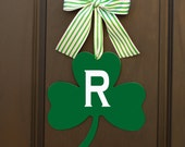 Saint Patricks Wreath - Shamrock Wreath - Monogram Wreath - Irish Decor