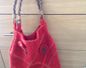 Vintage Style  Knitted Handbag