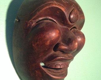 Vintage hand carved Korean wood theatre mask