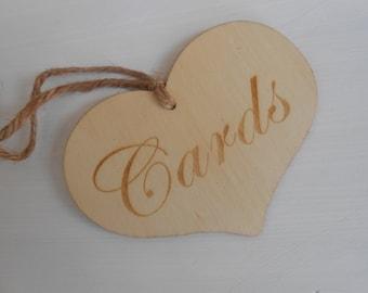 Wedding Cards Sign / Wooden Heart Cards Sign / Wedding Decorations / Wedding Signage / Rustic Wedding / DIY Wedding  / Card Box Sign /