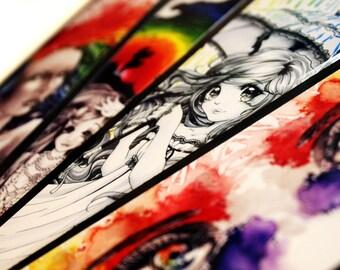 Rainbow Illustrated Bookmarks