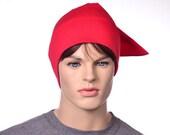 Cotton Nightcap Red Night Cap Sleeping Hat Sleep Hat Pointed Night Cap Unisex Adult Men Women Hat to Sleep in Pajama Hat Poor Poet Hat