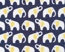 Cloud9 FLANNEL - Elephants Navy from Cloud 9 Fabrics