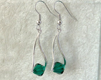 Swarovski Crystal Earrings - Emerald