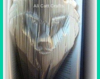 252 Wolf - Book Folding Pattern