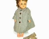"On Sale Doll and Wardrobe , 1951, Horsman Doll , Fairy Skin doll or Horsman Super Flex doll, 18 1/2"" tall"