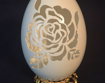 Rose cut out goose egg IN STOCK