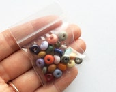 weenie bead mega mixes: 25 tiny lampwork beads in mixed colors - designer spacer beads by Uglibeads
