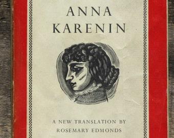 Anna Karenina book by Leo Tolstoy Penguin Classics vintage 1950s paperback