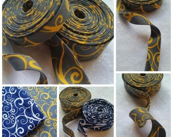 "3 Yards 1/2"" Double Fold Flower Printed bias or 6 Yards 1"" Single Fold Flower Bias Binding Tape"