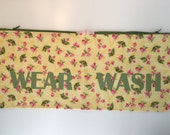 Yellow and Pink Mini  Floral Wear and Wash Travel Laundry Bag