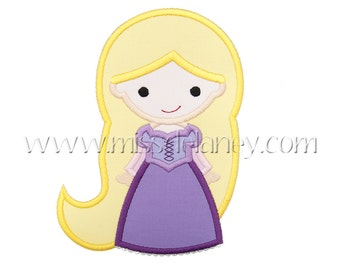 Golden Hair Princess 1 Applique Design