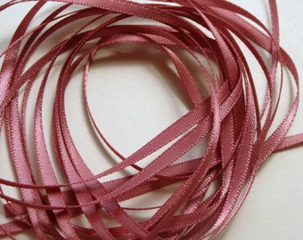 "1/8"" Double-Faced Satin Ribbon - Rose Mauve (2) - 10 Yards"