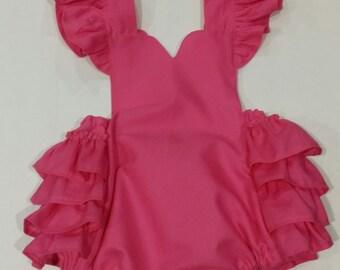 Dark Pink Serena Romper