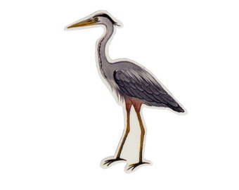 Great Blue Heron Bird Magnet / Nature Art / Refrigerator Magnet / Office Magnet / Party Favor / Small Gift