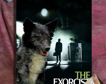 Mudi Print Fine Art Canvas - The Exorcist Movie Poster New Collection by Nobility Dogs