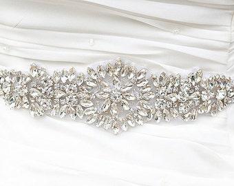 SALE Wedding Belt, Bridal Belt, Sash Belt, Crystal Rhinestones sash belt