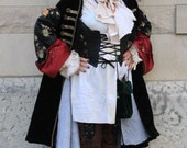 Pirate corset with tales Runway model used Ready to ship