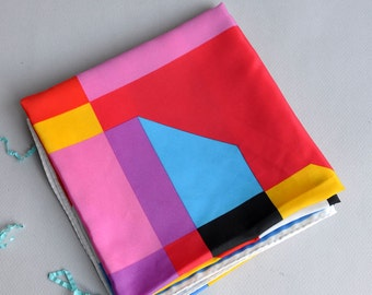 "Vera Neumann ""Abstract Color Block"" Silk Scarf"