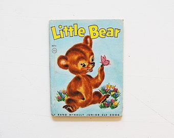 Vintage Little Bear book, Vintage kids books, Rand McNally Elf Books,
