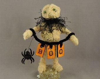 Spooky Halloween Mummy Polymer Clay Figurine