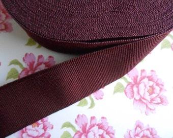 """Grosgrain Ribbon Tape Burgundy 1 1/4"""" width 5yds"""