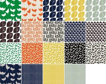 Hemma cotton fat quarter bundle by Lotta Jansdotter for Windham fabric