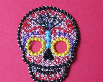 Day of the Dead Sugar Skull Lace
