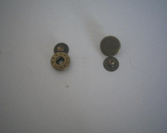 vintage snap/rivets (2) one says Bee HK 408 W.K the other one is plain