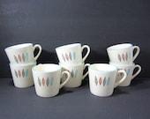 "Marcrest Nordic Min Leaf Coffee / Tea Cups / Set of 8 / 3"" Cups / Dinnerware / Made in U.S.A."