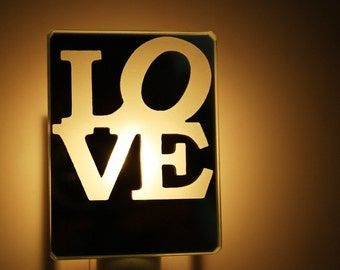love nightlight amour veilleuse night light morror glass verre st-valentine