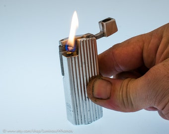 Working 1950s French Quercia Aluminum Roller Style Pocket Lighter