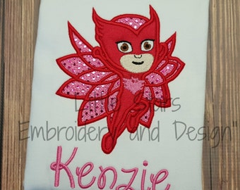 PJ Masks Owlette Girl - Appliqued and Personalized Shirts