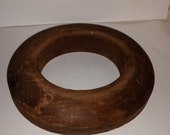 Vintage wooden Hat Brim Mold Old Wood ANTIQUE FORM GUC