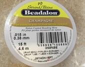 Beadalon Champage Bead Stringing Wire. 15 Ft Beading Wire Roll. New Beadalon Champane Wire Spool  CKDesigns.us