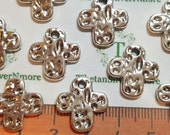 12 pcs per pack 16mm Hammered Cross Small Charm Antique Silver Lead Free Pewter